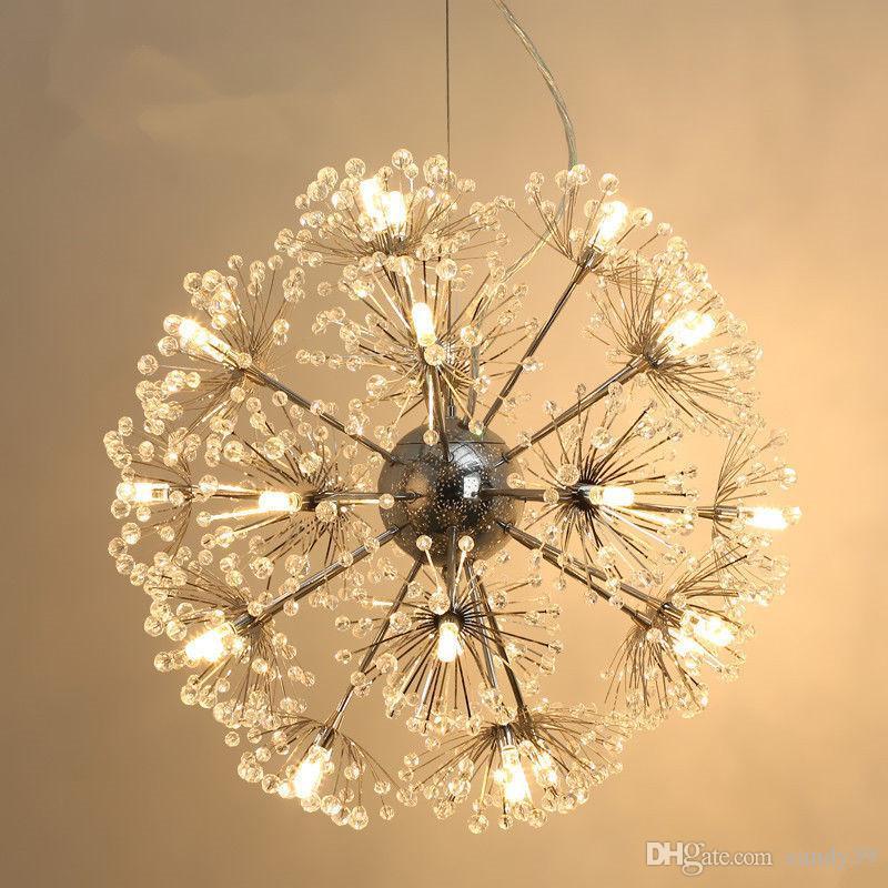 Lampe Star Moderne Pour Manger Pissenlit Led Fleur Salle Remise Suspension Éclairage Ball De Lumière Cuisine K9 À Bar Cristal lKcF1J