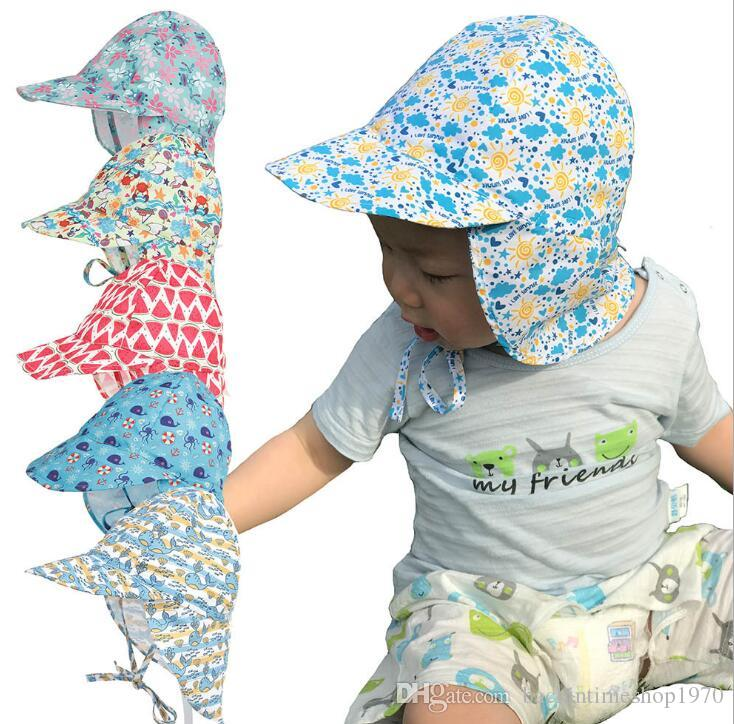 63011dc1 2019 Children Sun Hat Summer Neck UV Protection Girls Boys Outdoor Beach  Hat Neck Ear Cover Flap Cap Adjustable Quick Dry Cap From  Backintimeshop1970, ...
