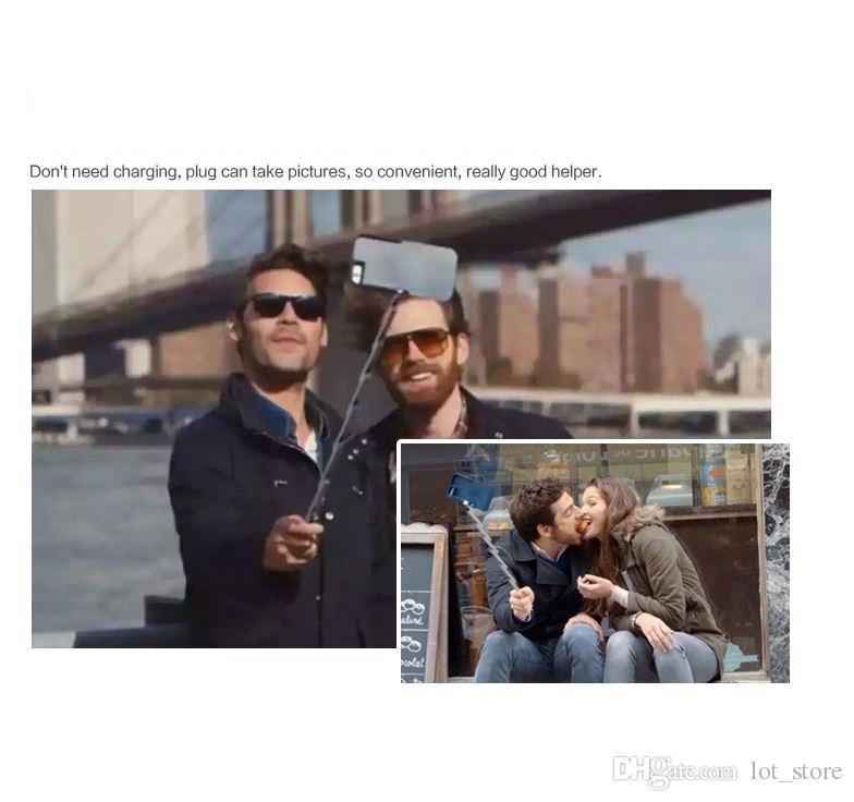 Selfie Stick iPhone Case Bluetooth Trigger Rotazione a 360 gradi iPhone 6 / 6s