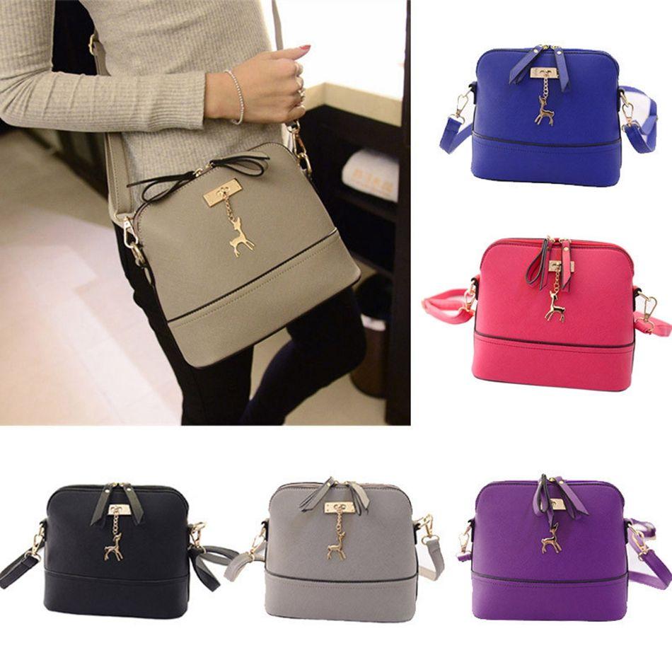 6e6d39c39011 Women Small Shell Leather Handbag Leather Vintage Messenger Bag Fashion  Shoulder Crossbody Deer Shell Bag OOA4441 Cute Handbags For Teens Teen  Girls Purses ...