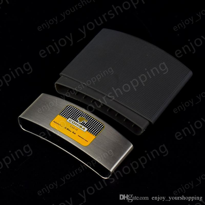 Diseño de personalidad de moda caliente Novedoso procesamiento de calidad superior COHIBA mini cigarro pitillera Holder portátil