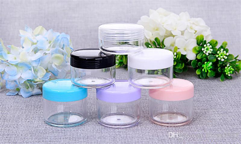 10g,15g,20g Empty Cosmetic Container Plastic Jar Pot Eyeshadow Makeup Travel Face Cream Lotion Cosmetic Refillable Bottle Box