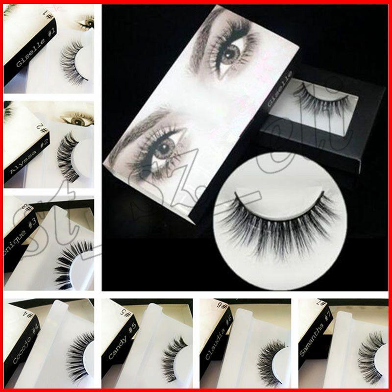 20 Kinds Brand False Eyelashes Eyelash Extensions Handmade Fake