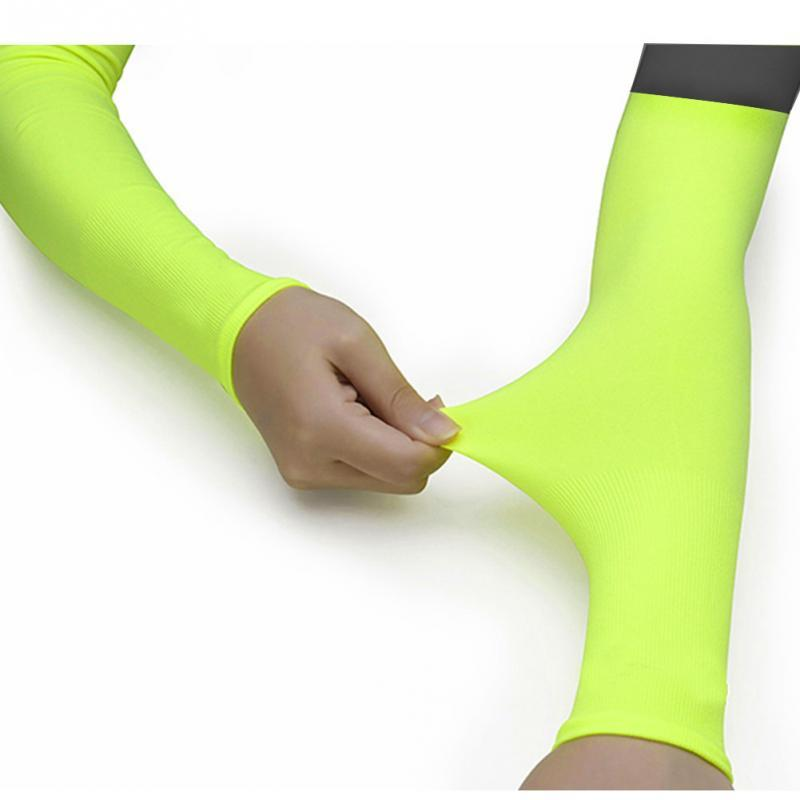 1pcs Running Cycling Uv Protection Arm Sleeves Arm Warmers Basketball Volleyball Bicycle Bike Arm Covers Sports Elbow Pads Attractive Appearance Apparel Accessories