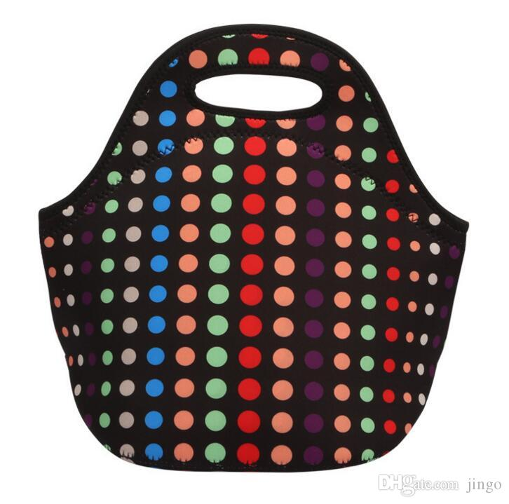 Reusable النيوبرين غداء حمل حقيبة كبيرة سميكة الأزياء نزهة ماء برودة معزول حقيبة للرجال النساء الكبار أطفال ns