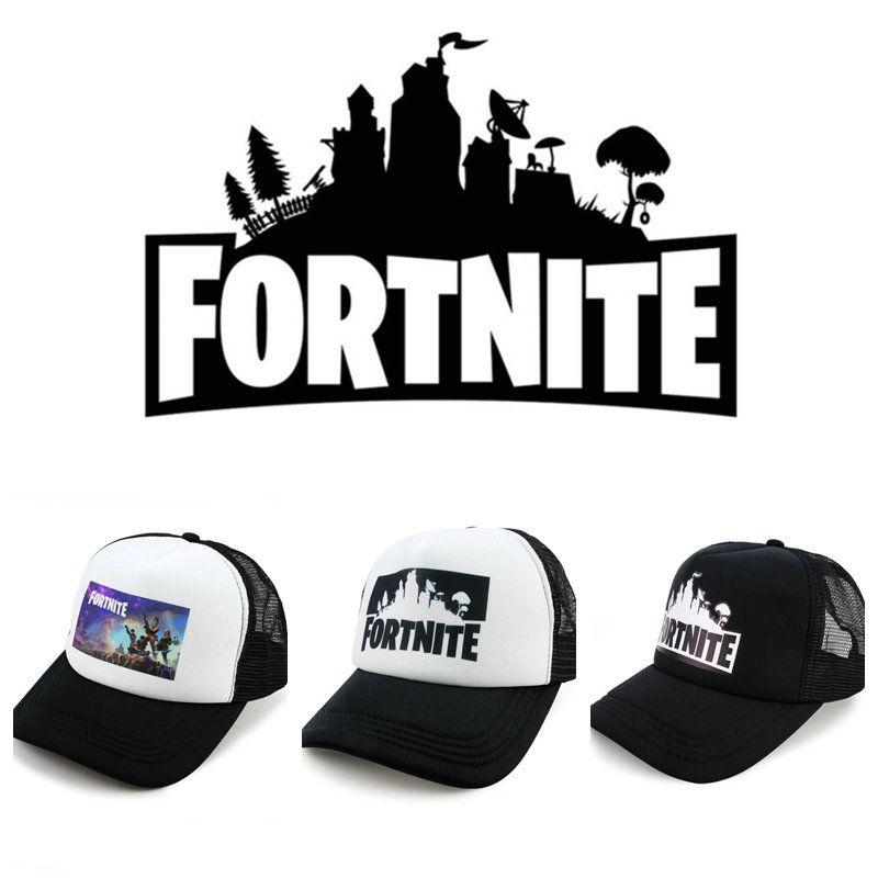 3 Colors Fortnite Battle Royale Baseball Caps Cowboy Trucker Snapbacks Fortnite Adjustable Visor Sun Hats Sports Caps 50pcs