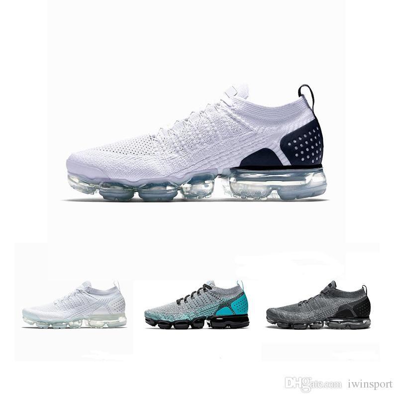 461eec8911 nike air max vapormax Vapormax 2018 bianco argento nero scarpe uomo donna  per la corsa scarpa maschile sport shock corss escursioni jogging a piedi  ...