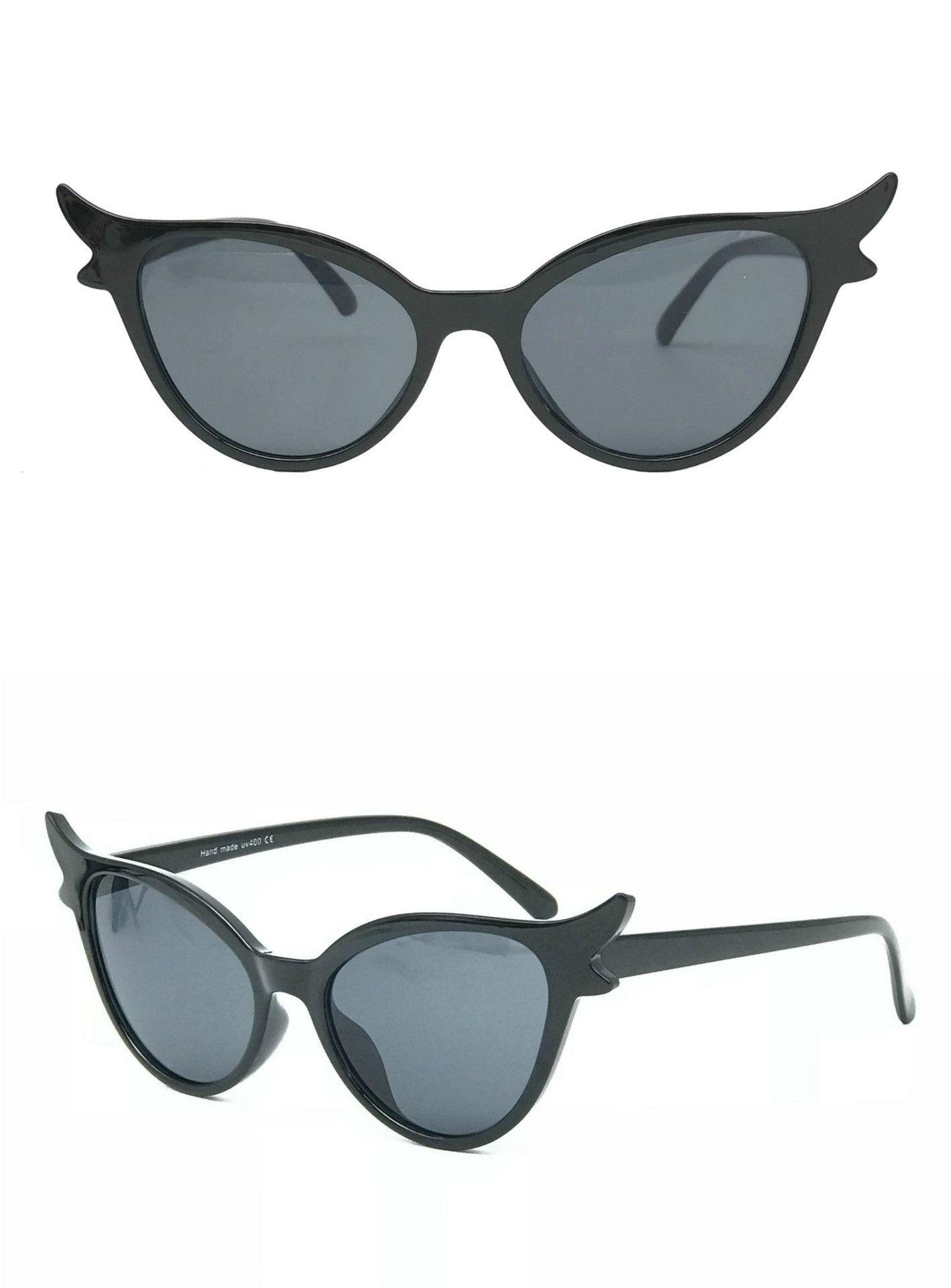 b9d2ef00e2 2018 Fashion Cateye Triangle Sunglasses Sexy Women Vintage Cat Eye ...