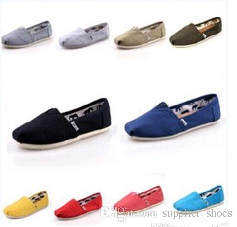 2018 HOT Casual Shoes Women Men Classics TOM MRS Loafers Canvas Slip On Flats  Shoes Lazy Shoes Size 35 45 Wedges Shoes Black Shoes From Supplier shoes 6e742b9e6ee