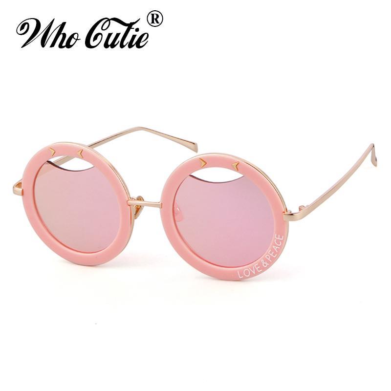 c3d35bb5c2 WHO CUTIE 2018 Hollow Out Round Sunglasses Men Women Brand Designer ...