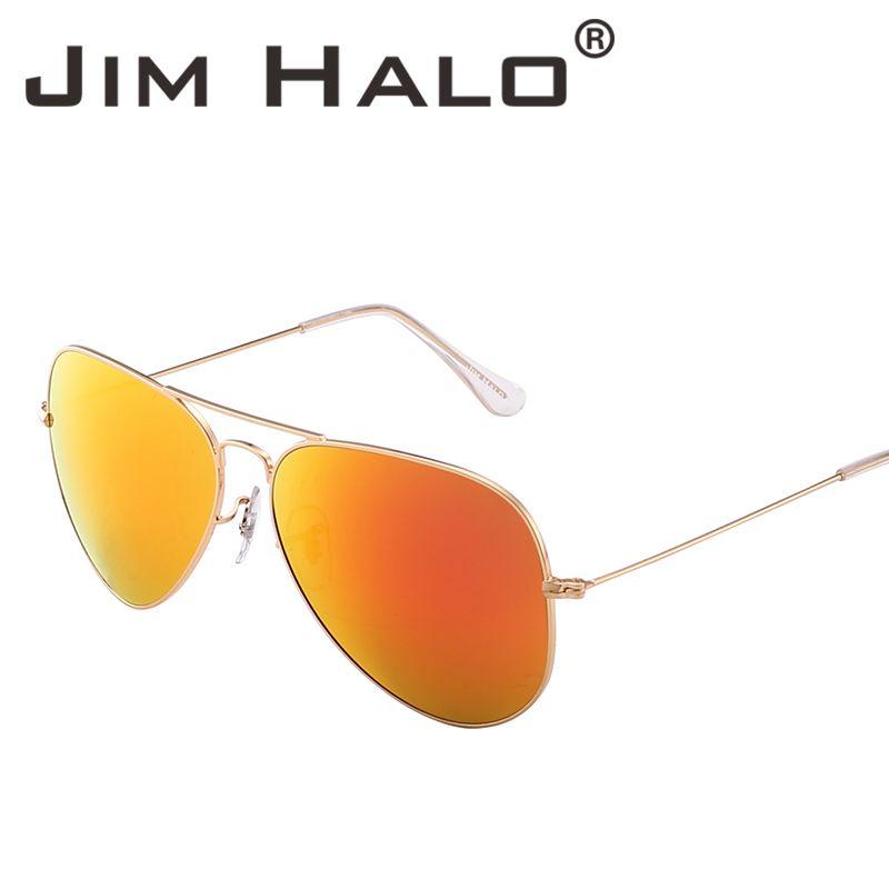 6906bcf5eb Jim Halo Retro Lightweight Aviation Flash Mirrored Lens Driving ...