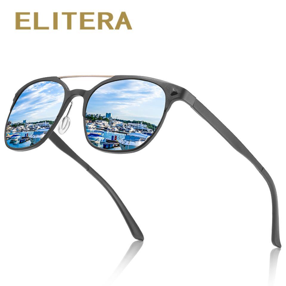 54ca2532ab9c3 ELITERA Men Women Classic Rivet Polarized Sunglasses Aluminum Magnesium  Legs Lighter Design Frame UV400 Protection Sunglass Cheap Sunglasses From  Junemay
