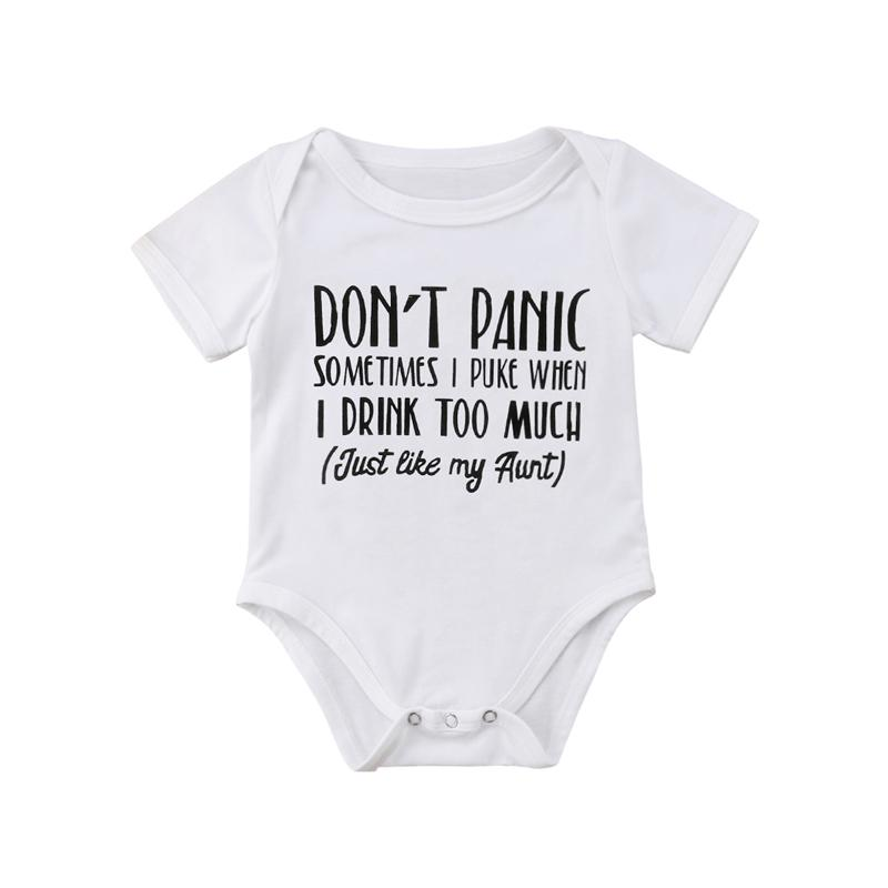 37bc14d018b1a 2019 FOCUSNORM Funny Newborn Baby Boy Girl Romper Babygrows Short Sleeve  Print Letter Playsuit Clothes Outfits From Paradise13, $34.9 | DHgate.Com