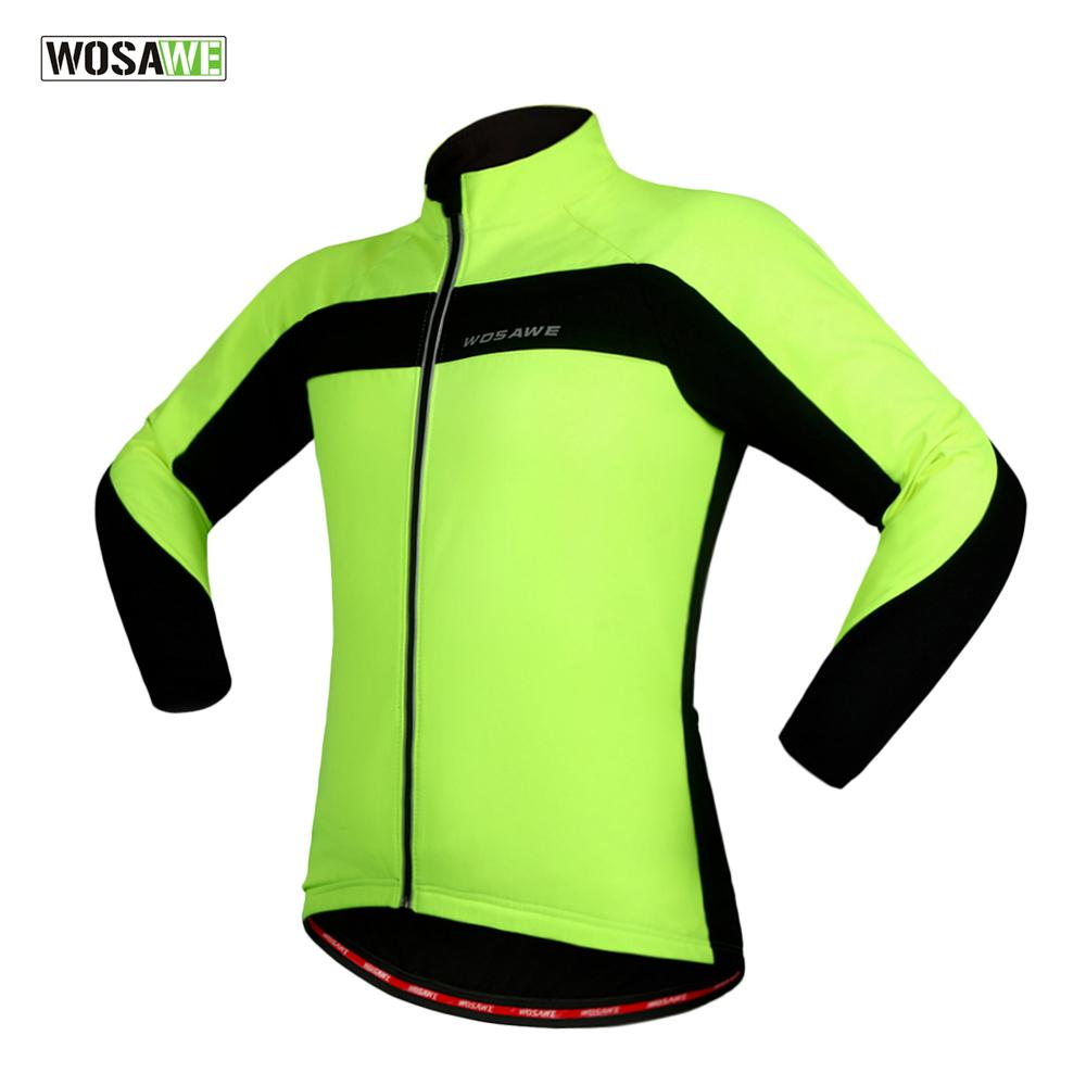 e46533e08 WOSAWE New Winter Warm Thermal Cycling Jacket Bicycle Clothing ...