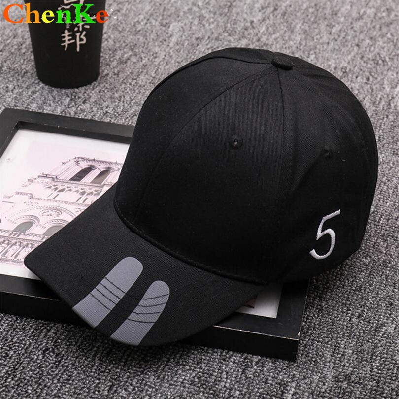 ChenKe 2018 Cotton Embroidery Number 5 Baseball Cap Women Men Snapback Caps  Bone Casquette Hat Fitted Hat For Men Custom Hats Custom Fitted Hats Design  Your ... 07970ad826d