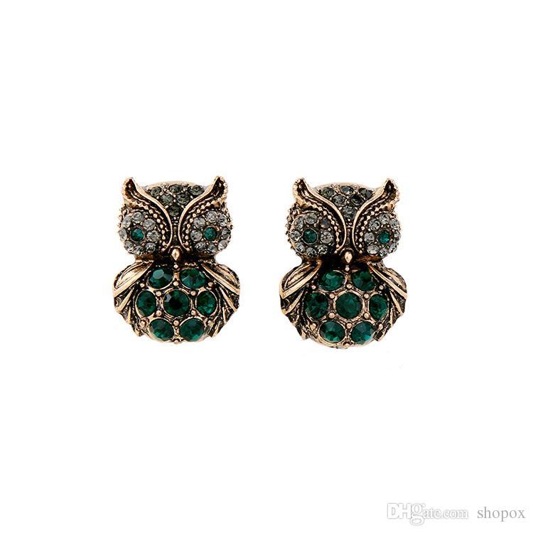 Cute Diamond Owl Earrings Pendant Character Wild Cool High-end ... dc8c52942c5d
