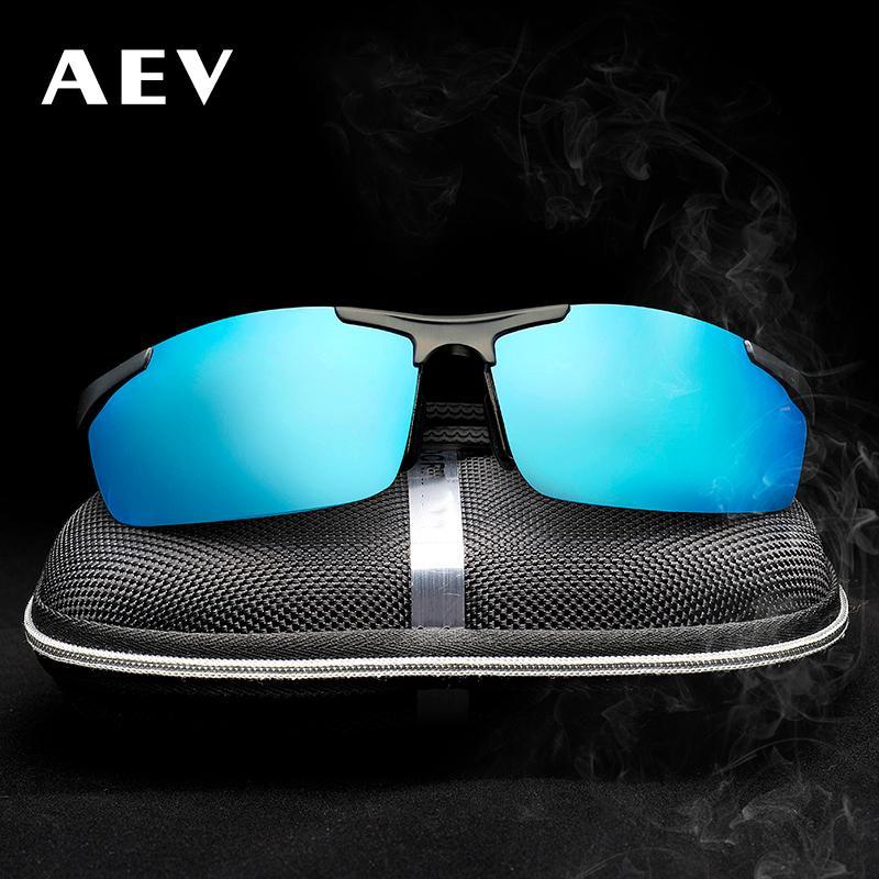fd32c8b713 AEV Aluminum Magnesium Men s Sunglasses Polarized Coating Mirror Sun ...