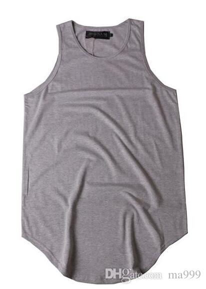 PLAIN T-Shirt Men Justin Bieber Sleeveless Summer Tees Curved Hem Skateboards Vest Tee Classic Striped Casual Singlet Shirts BSFG1202