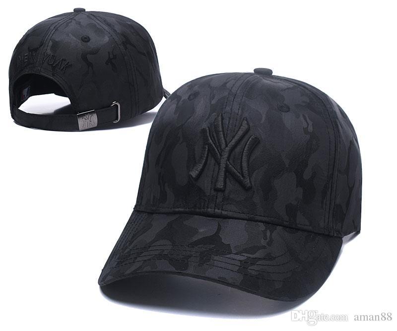 2018 Baseball Cap NY Embroidery Letter Sun Hats Adjustable Snapback ... 7443dc6f10e