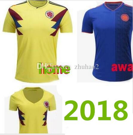 promo code 9bad6 cef7f New 18 Colombia World Cup jerseys JAMES FALCAO CUADRADO BACCA Football  shirts 18 19 Colombia National Team home away Soccer Jerseys