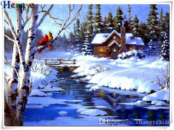 Home & Garden Needle Arts & Crafts 5d Diy Diamond Painting Cross Cube Stitch Snow Scenery Home Decor Diamond Embroidery Canvas Home Decor Painting Best Price