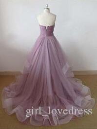 Real Photos Women Mermaid Long Tulle Prom Dresses Party Vestido De Festa Custom Dusty Rose Lace Up Back Formal Dresses