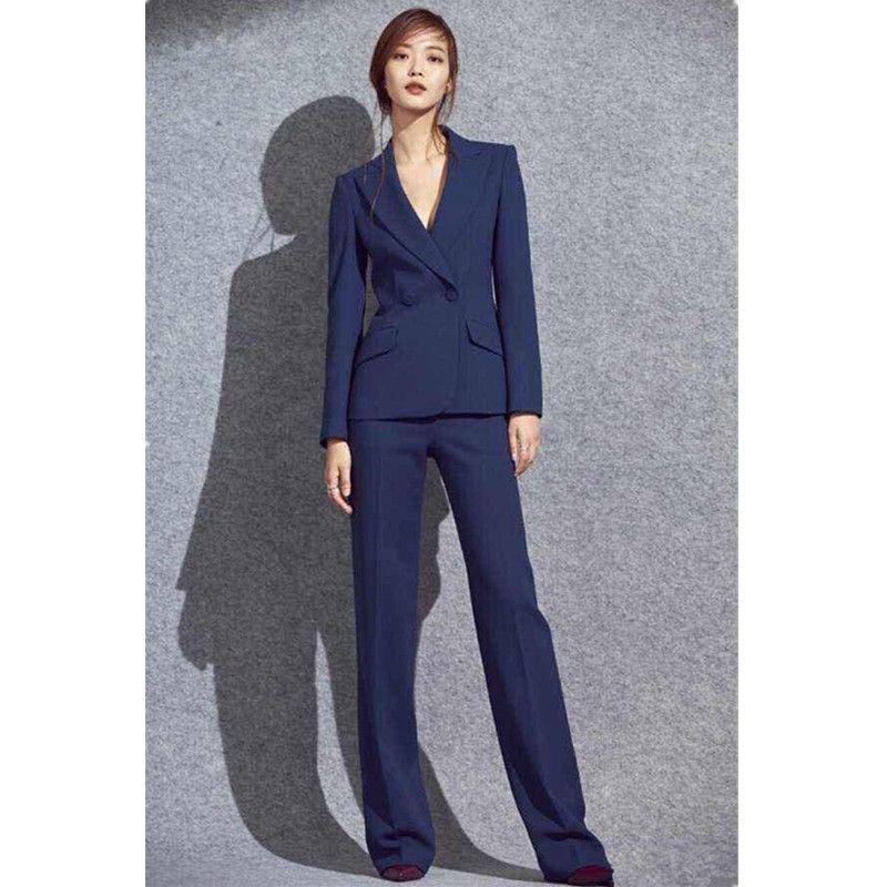 d03225809 Otoño nuevo negocio caliente formal elegante traje de damas traje de mujer  traje de dos piezas (chaqueta pantalones) personalización de soporte