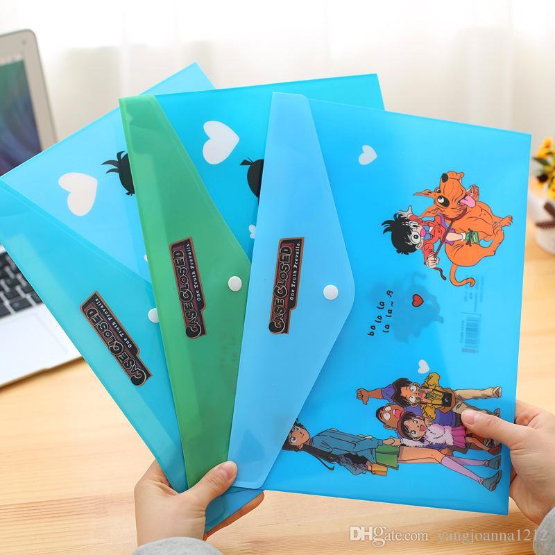 Wholesale Cute A4 Document Bag Document Holder Kawaii Cartoon Animal PVC File Folder Bag Student School Paper Bag