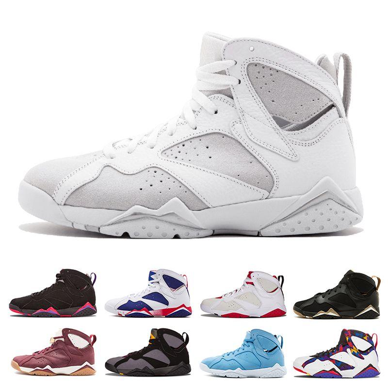 b2a5c641a6c 2018 Men 7 Basketball Shoes Hare Unc Pantone Pure Money Olympic Bordeaux Gg  Cardinal Raptor French Blue Citrus Cigar Sport Sneaker Us 8 13 Jordans  Running ...