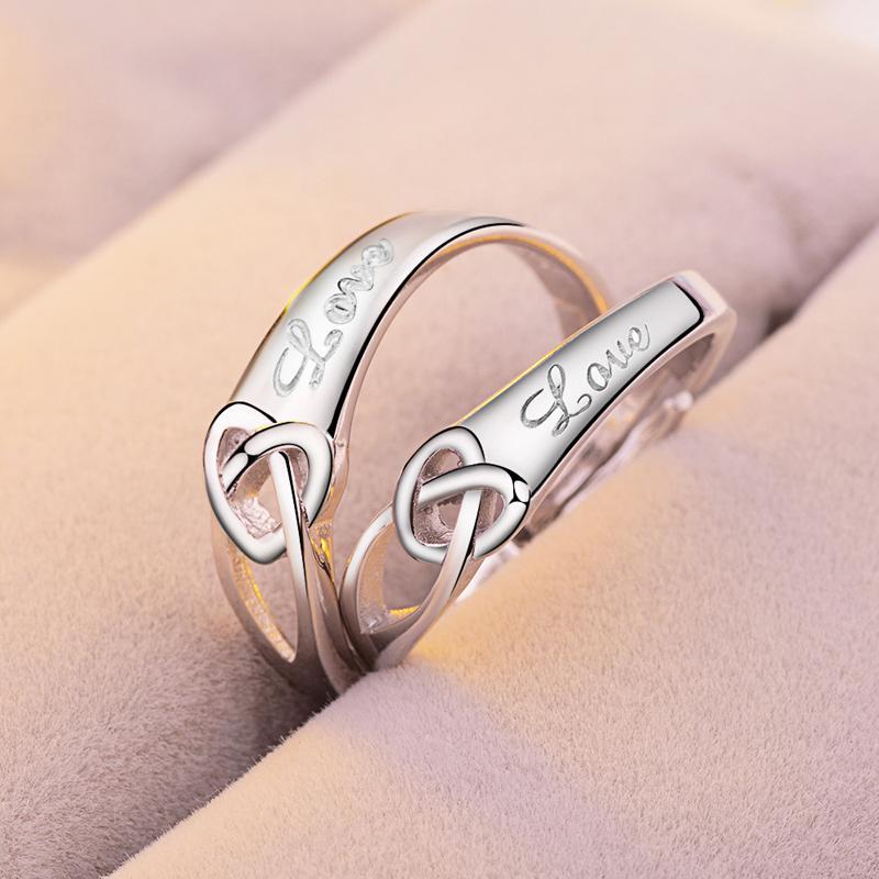 2018 Jewelry Titanium Stainless Steel Couple Sets Lovers Gemstone