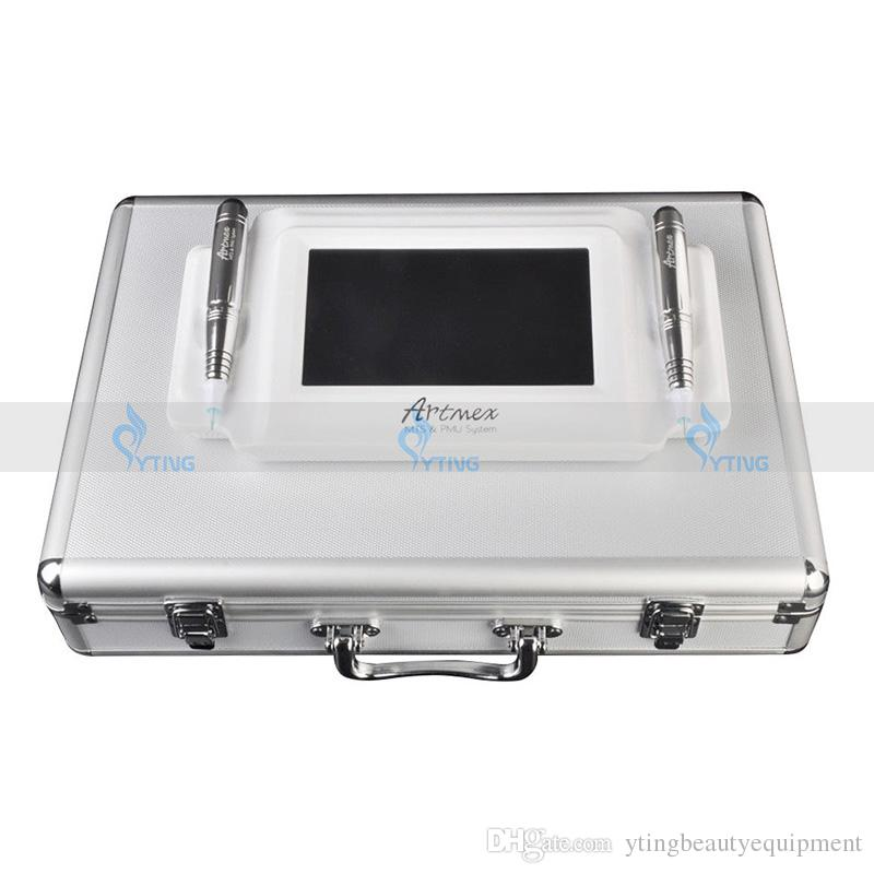 2 в 1 Intellegent Artmex V8 татуировки перманентный макияж машина сенсорный экран 2 ручки PMU + МТС татуировки бровей ручка макияж оборудование