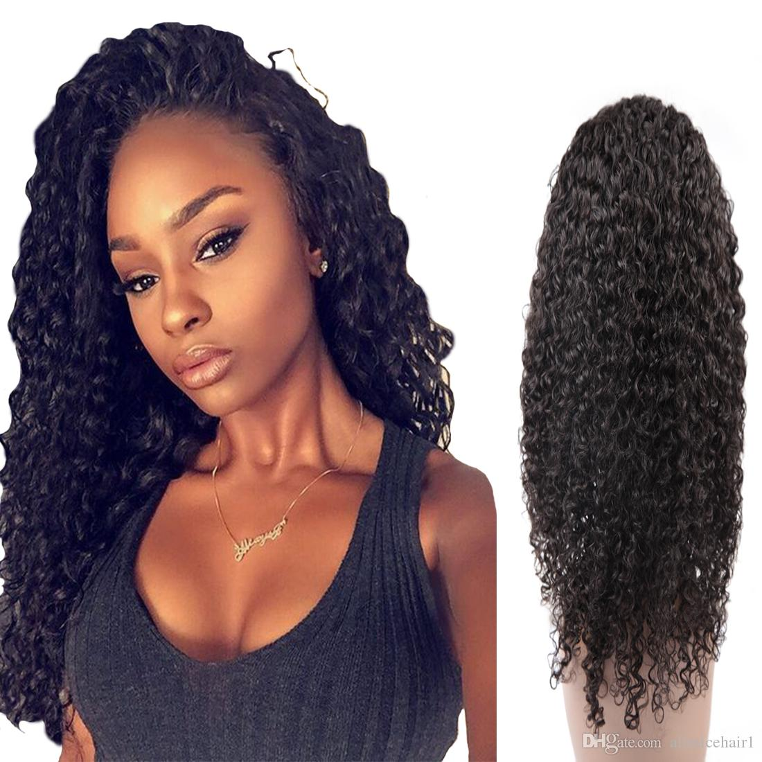 Human Hair Wigs 360 Lace Front Brazilian Curly Wave Soft Hair Deep Wave  Lace Front Wigs For Black Women Remy Full Lace Wig Full Lace Wigs Canada  From ... 8a9fc13394