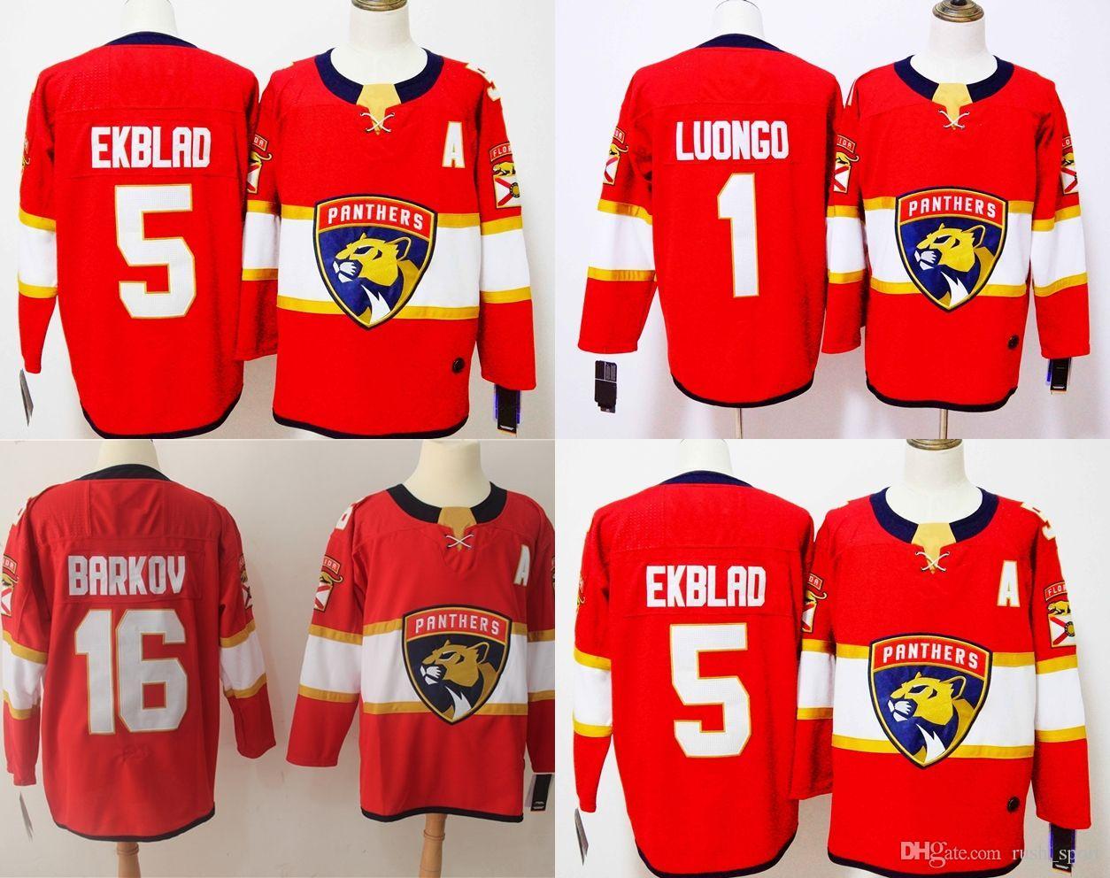 8916c75baad 2018 Season AD Florida Panthers Cheap Hockey Jerseys LUONGO 1 EKBLAD ...