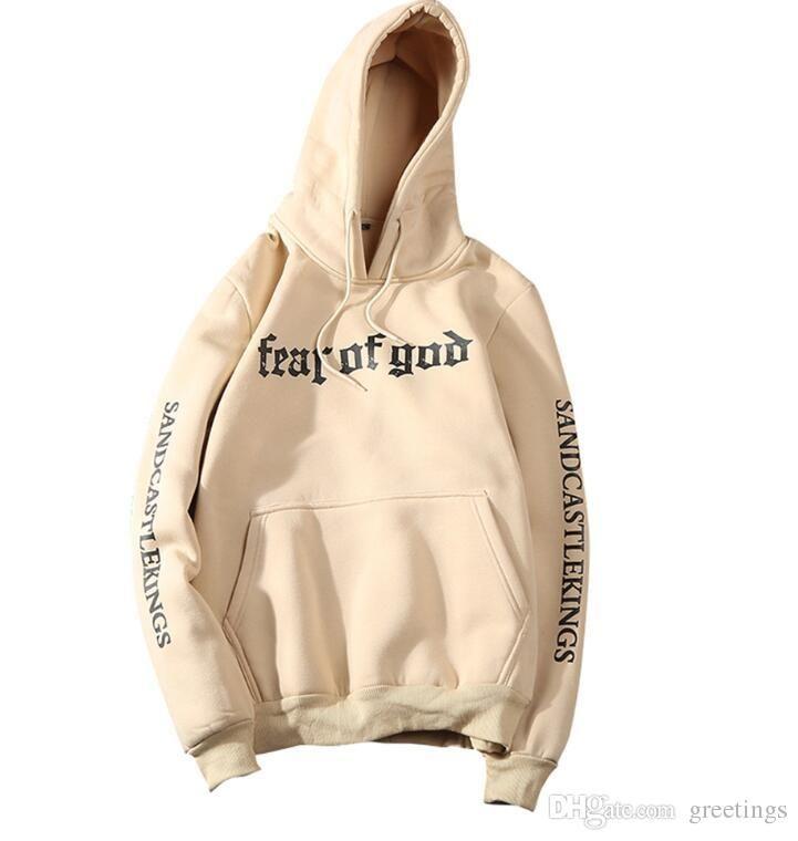 e3a5e3792 2019 Men Brand Fear Of God Hoodie Beige Purpose Tour Sweatshirt Gorilla Wear  Hiphop Sweatshirt Skateboard Wes High Quality Casual Hoodies From Bears2,  ...