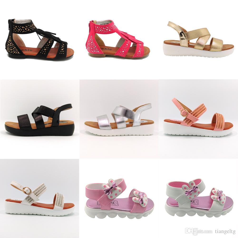 Sandalia Plana Chica Zapatos Shoex Party Glitter Shinning Diamonds Zipper  Ballet Brushed PU Baby Girls Toddler Middle Kids Summer Beach Girls Kids  Luxury ... d9245a6a3ede