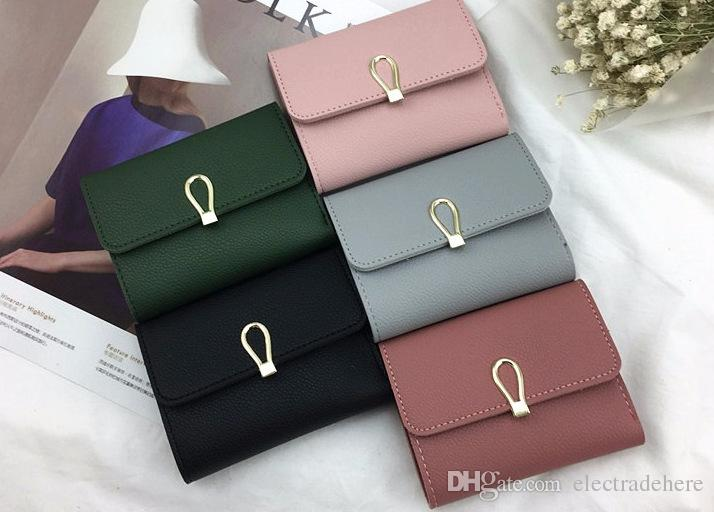 26acd0895e3 2018 Matte Leather Small Women Wallet Luxury Brand Famous Mini Womens  Wallets And Purses Short Female Coin Purse Credit Card Holder
