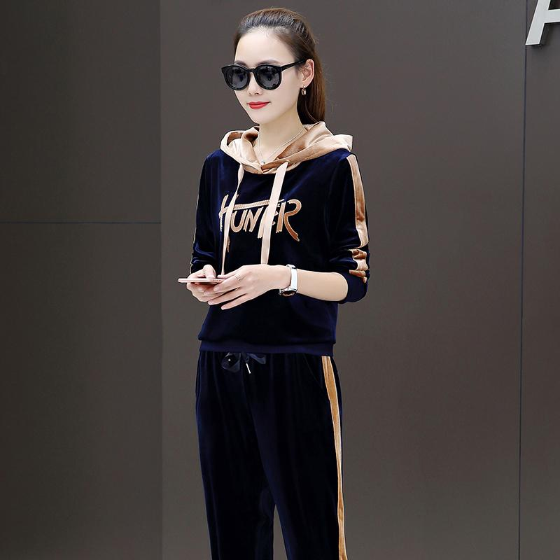 f30462c3aeb 2019 Womens Velour Tracksuit Set 5928 Plus Size Hoodies Pullover Match Pants  Jogger Suits For Women Good Quality Velvet Tracksuits Women From Silverdog