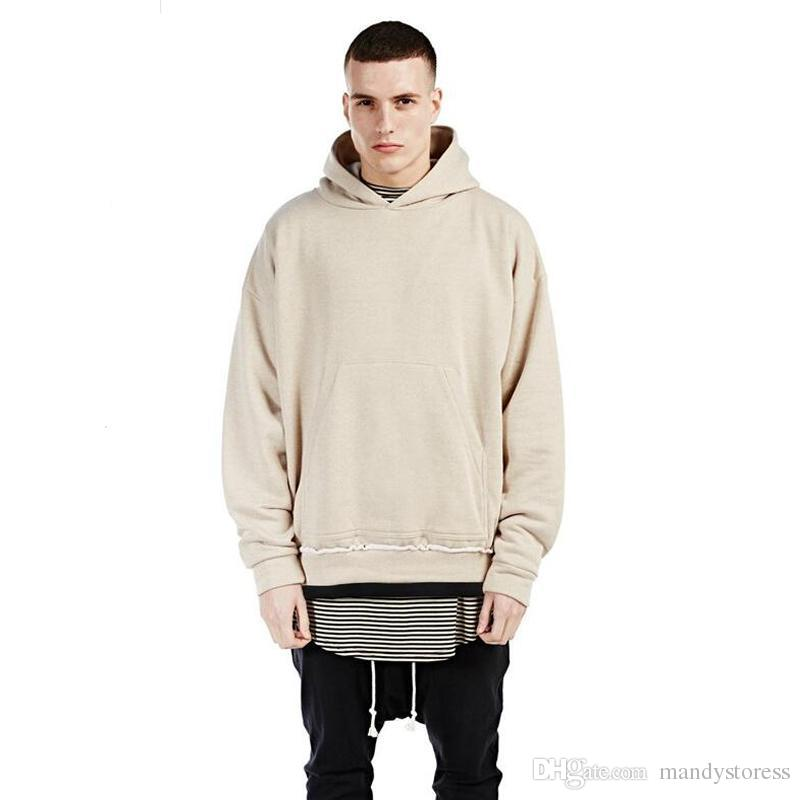 c0a532dd8 2019 Wholesale Newest Streetwear Khaki BEIGE Men Hoodies Pullover Oversized  Hood Hoodie Kpop Clothes Mens Urban Represent Clothing From Mandystoress,  ...