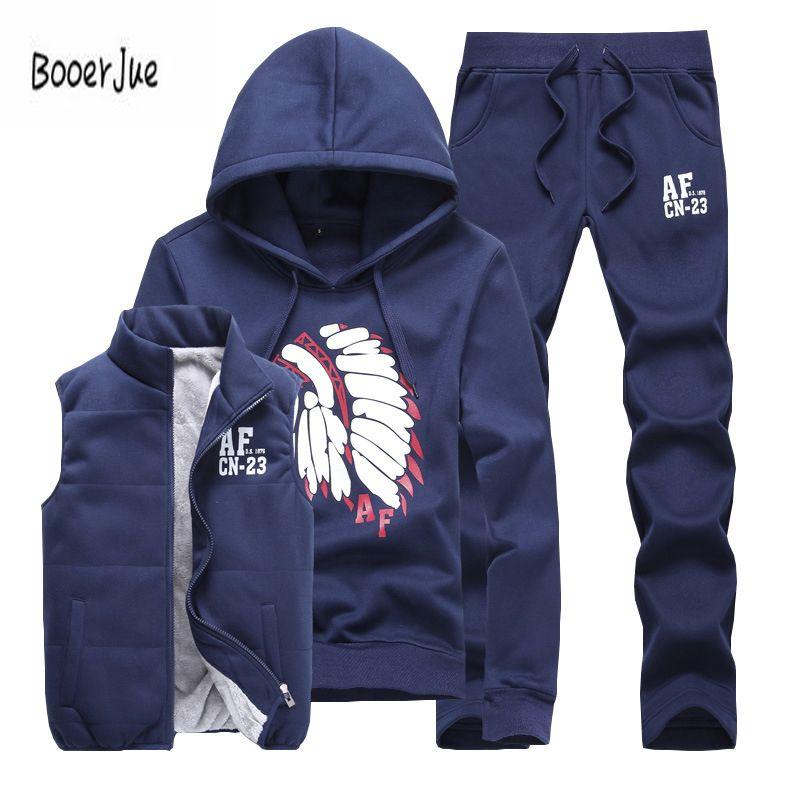 142b73c2970 Three Piece Polo Sweat Suit Tracksuit Men Winter Thick Fleece Hoodies Men  Tracksuit Set Jacket Vest Pants Men Clothing Set 2018 C18110501 Canada 2019  From ...
