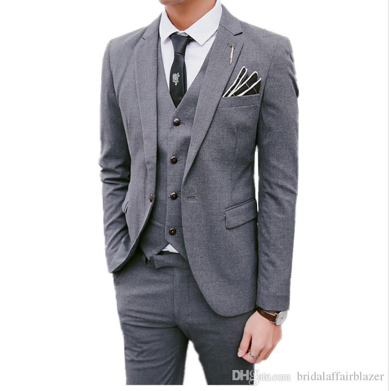 028473011ced 3 Pieces Sets Blazers Jacket Pants Vest Suits / Boutique Men's Casual  Business Dress Wedding Groom Suit Coat Trousers Waistcoat