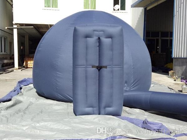 4 m planetaryum kubbe çadırı fabrika doğrudan fiyat ücretsiz nakliye maliyeti ile ekspres tarafından taşınabilir projeksiyon kubbe
