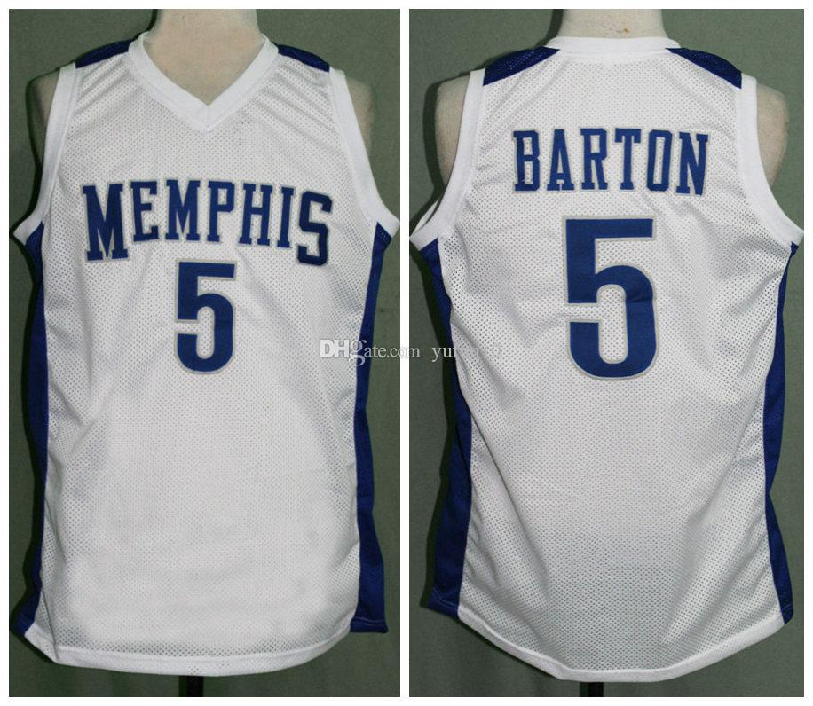 new arrival 331df 8dd15 Will Barton Memphis Tigers Retro Classics Basketball Jersey Mens Embroidery  Stitched Custom any Number and name Jerseys