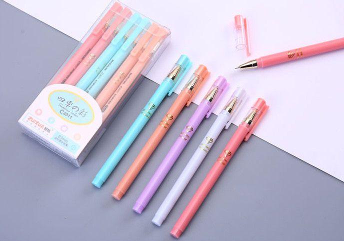 Wholesale gel pen \Full needle tube neutral color pen 0.5mm black\blue 258