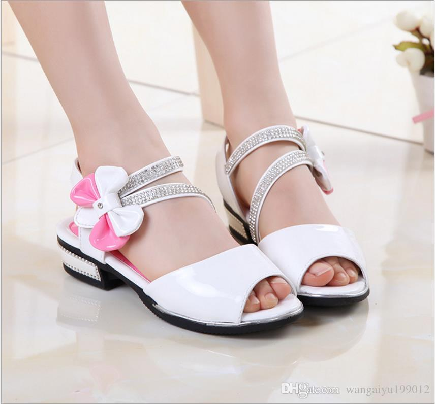 Girls shoes sandals 2018 new Korean version of the summer students princess shoes big children baby child cool