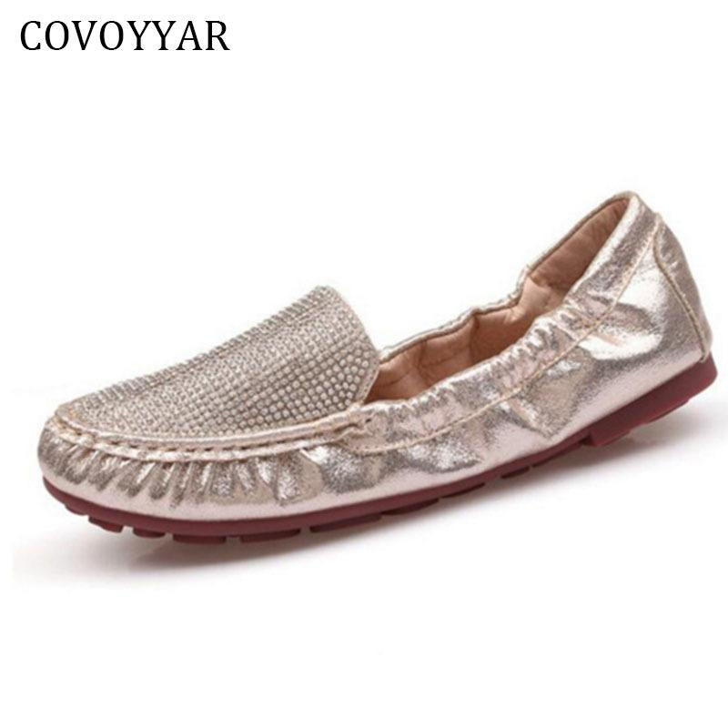 df6f41baefacd3 2019 Casual COVOYYAR 2018 Luxury Rhinestone Women Shoes Spring Autumn  Fashion Sequin Women Loafers Ballet Flats Lady Fold Able Shoes WFS737 Blue  Shoes Clogs ...