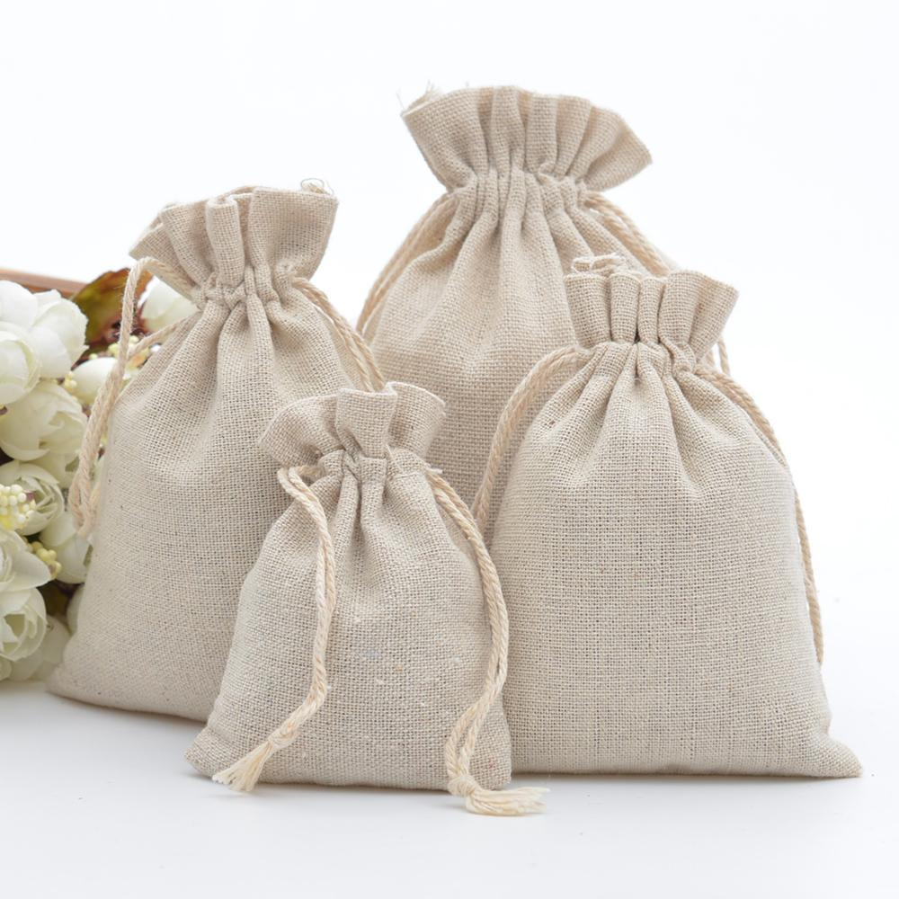 100% Cotton Drawstring Bags Rustic Calico Gift Bags For Coffee Beans  Jewelry Wedding Favors Xmas Sack Accept Customize Printed Wrapping Paper  Printing ... 4f993b21ae6df