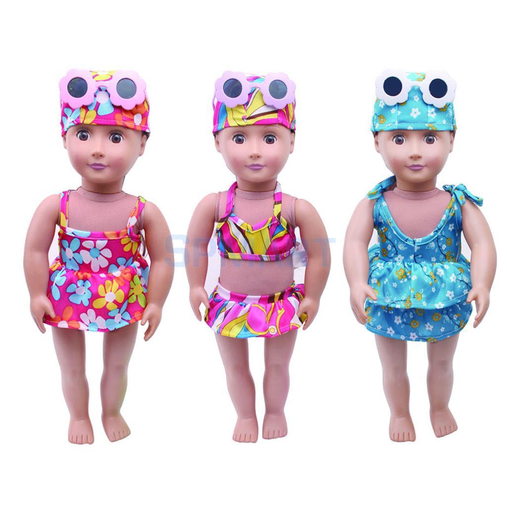Swimwear Swimsuit Clothes For 18 Inch American Girl Doll Our Generation Doll  Clothes Bikini Tops Skirt Dress W  Briefs Hat Doll Houses Accessories ... 6a61daa7a