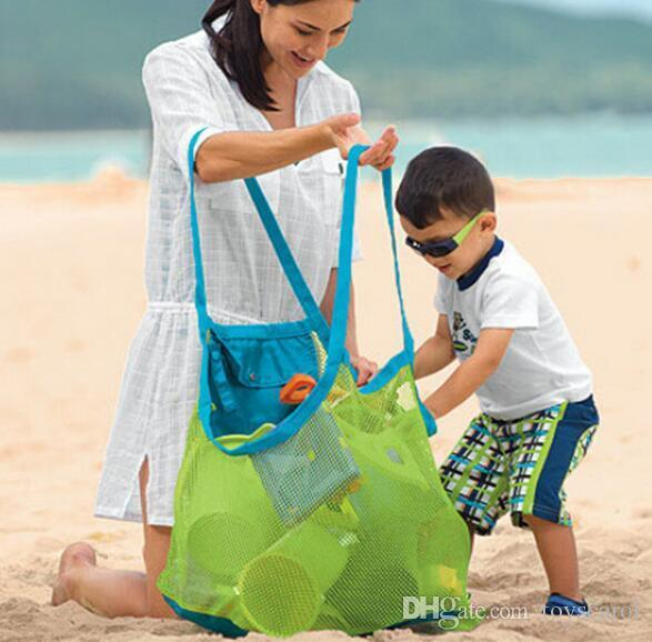 Outdoor Kids Beach Bags Toys Quick Storage Bags Pouch Tote Portable Folding  Sands Tools Sundries Large Bags Beach Toy Storage Stuff Bag Wallets For  Girls ...