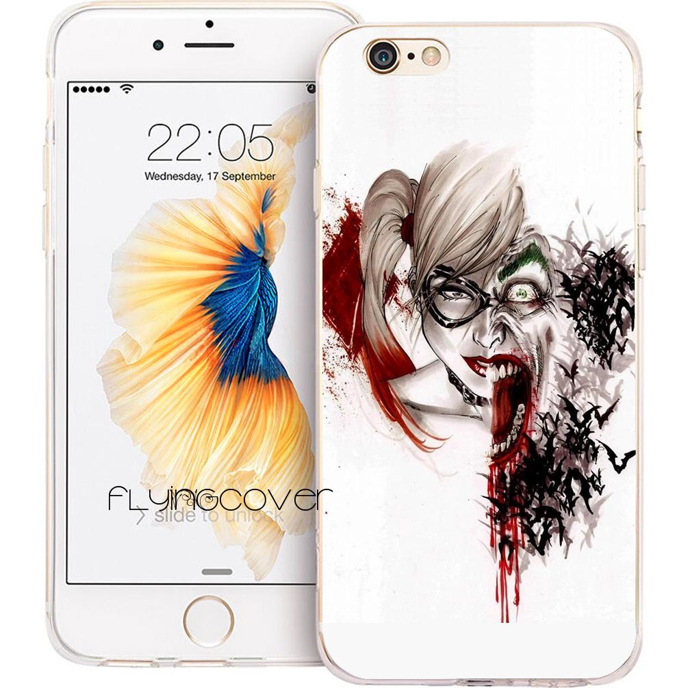 Coque Joker Harley Quinn Clear Soft TPU Silicone Phone Cover For IPhone X 7  8 Plus 5S 5 SE 6 6S Plus 5C 4S 4 IPod Touch 6 5 Cases. e89a729ebd1c