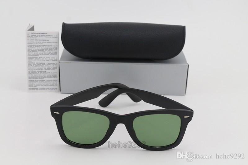 Compre Gafas De Sol De Moda Hombres Mujeres Marco Negro Mate ...